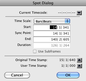 Fig. 1: Spot Mode y Original Time Stamp