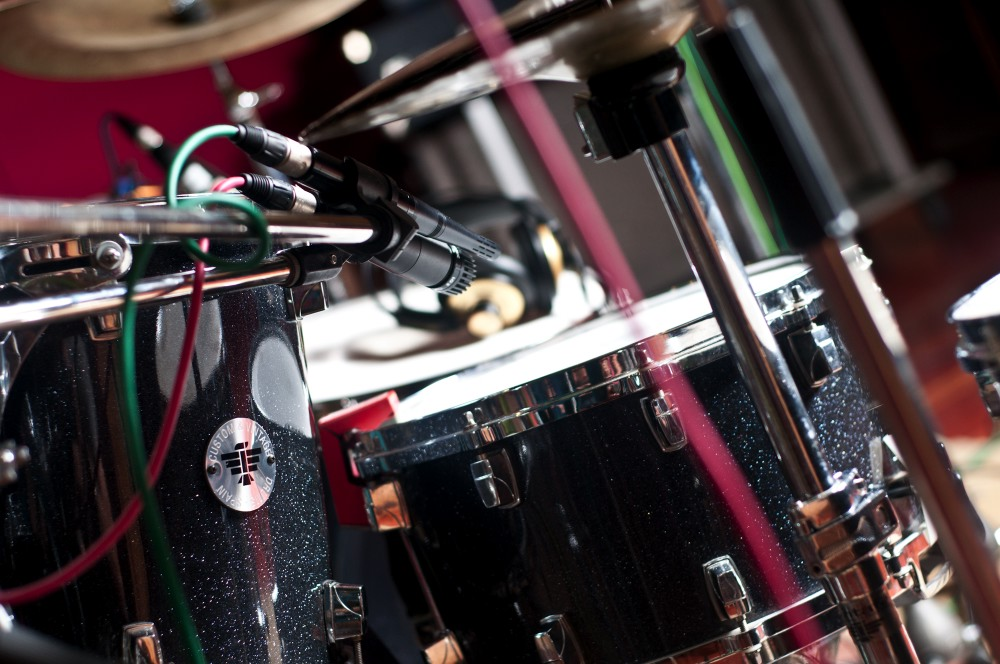 Img. 4: Detail of the mics in the snare.